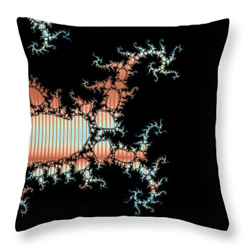 Throw Pillow featuring the digital art Scorpion King by Ester  Rogers