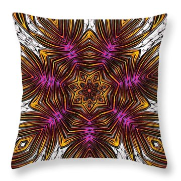 Throw Pillow featuring the digital art Scorpion Sunset by Alec Drake