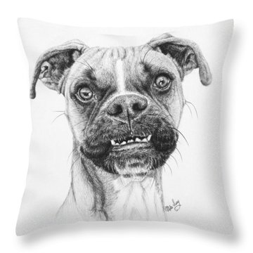 Throw Pillow featuring the drawing Scout by Mike Ivey