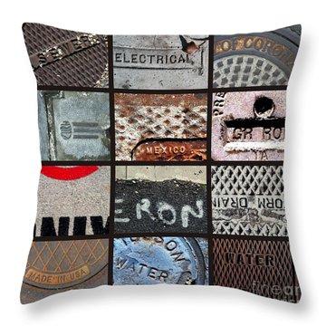 Scrabble Throw Pillow by Marlene Burns