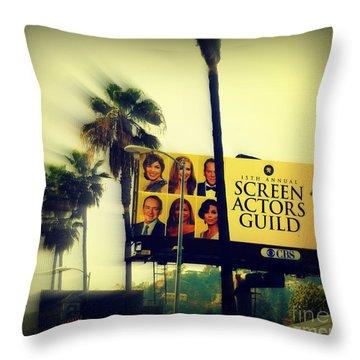 Screen Actors Guild In La Throw Pillow by Susanne Van Hulst