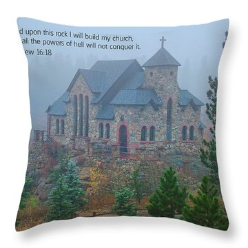 Scripture And Picture Matthew 16 18 Throw Pillow by Ken Smith