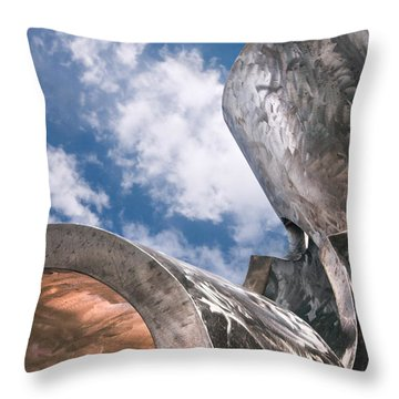 Throw Pillow featuring the photograph Sculpture And Sky by Tom Gort