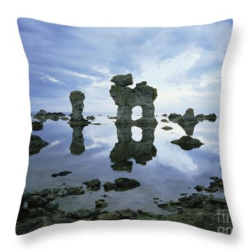 Sea Arch Throw Pillow by Bjorn Svensson and Photo Researchers
