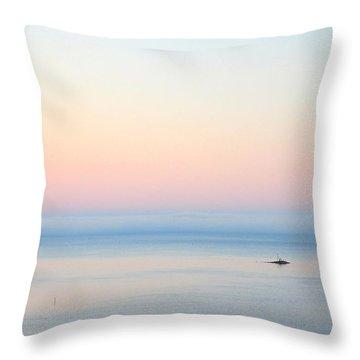 Sea Fog Throw Pillow