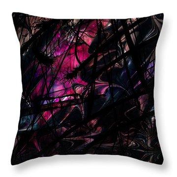 Sea Monster Throw Pillow by Rachel Christine Nowicki