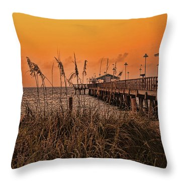 Throw Pillow featuring the photograph Sea Oats At Dawn by Anne Rodkin