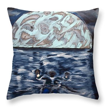 Throw Pillow featuring the painting Sea Of Troubles by Lisa Brandel