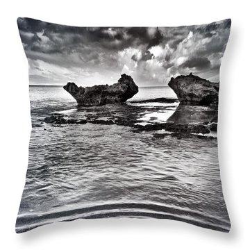 Sea Ripples Throw Pillow by Stelios Kleanthous