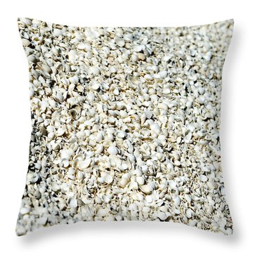 Sea Shells Throw Pillow by Yew Kwang