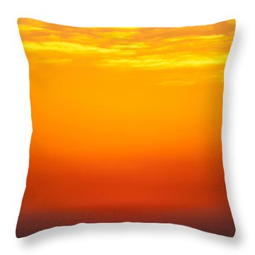 Sea Sunrise Throw Pillow