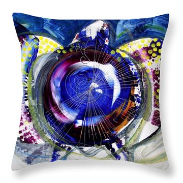 Sea Turtle Ethereal Throw Pillow by J Vincent Scarpace