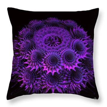 Sea Urchin Throw Pillow by Julie Grace
