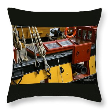 Throw Pillow featuring the photograph Sea Worthy by Elf Evans