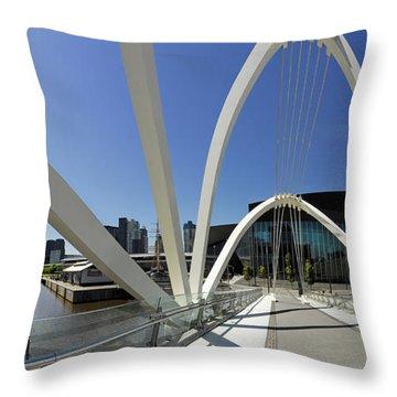 Seafarers Bridge Throw Pillow by Robert Lacy