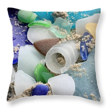 Seaglass Study IIi Throw Pillow