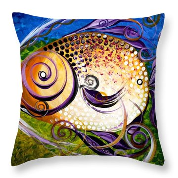 Seagrass And Sultry Non-subtlety Throw Pillow