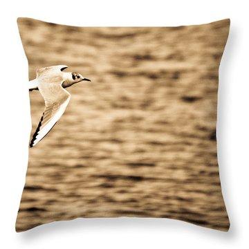 Seagull Antiqued Throw Pillow