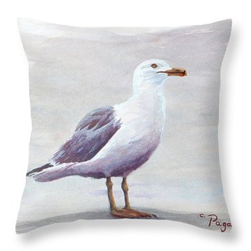 Seagull Throw Pillow by Chriss Pagani