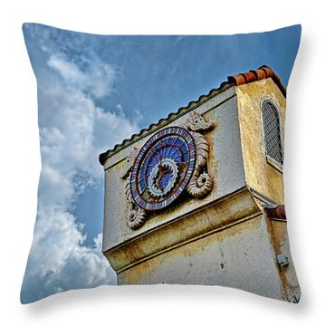Seahorse Clock Throw Pillow by Christopher Holmes