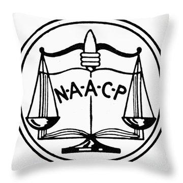 Seal: Naacp Throw Pillow by Granger