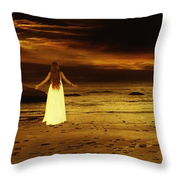 Search For Peace Throw Pillow by Ester  Rogers