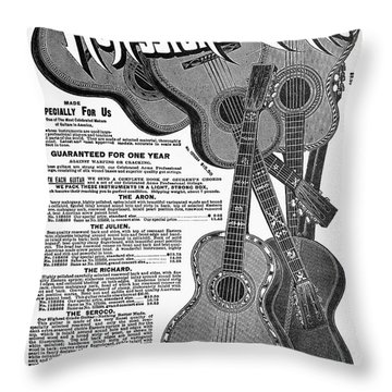 Sears Ad - Guitars 1902 Throw Pillow by Granger