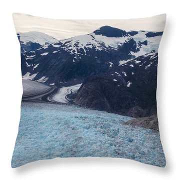 Seas Of Ice Throw Pillow