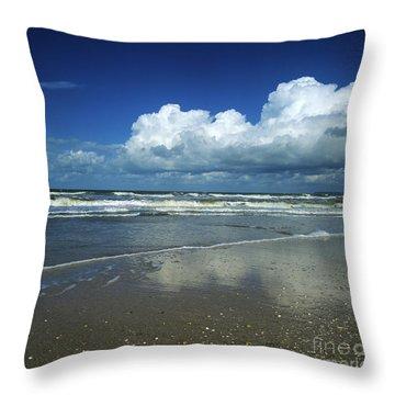 Seascape.normandy.france Throw Pillow by Bernard Jaubert