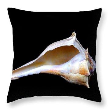 Throw Pillow featuring the photograph Seashell 2 by Deniece Platt
