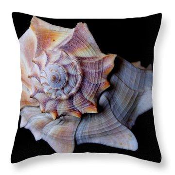 Throw Pillow featuring the photograph Seashell 5 by Deniece Platt