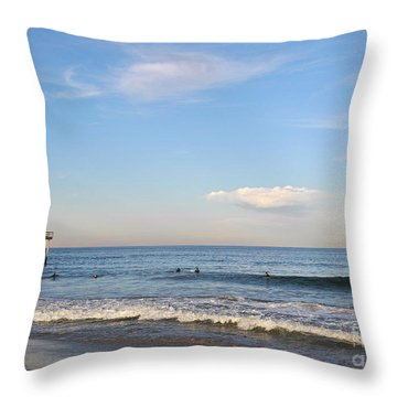 Seaside Heights Throw Pillow