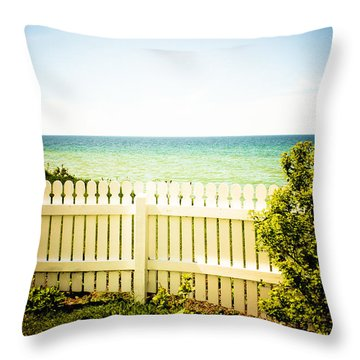 Throw Pillow featuring the photograph Seaside Retreat by Sara Frank