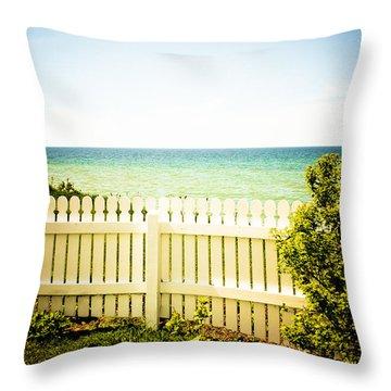 Seaside Retreat Throw Pillow by Sara Frank