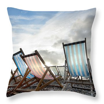 Seasons End Throw Pillow by Robert Lacy