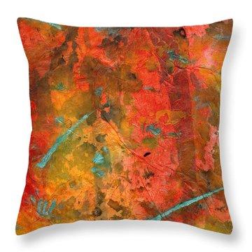 Seasons Of Joy Throw Pillow by Angela L Walker