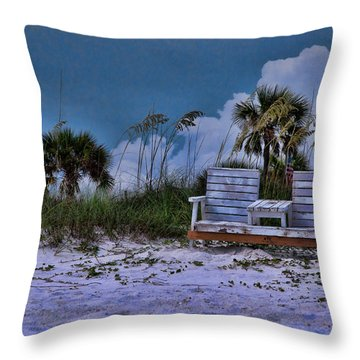 Seat On The Dunes Throw Pillow