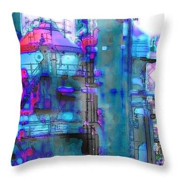 Seattle Gas Tower 2 Throw Pillow