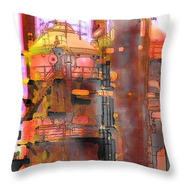 Seattle Gas Tower Throw Pillow