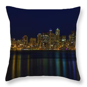 Seattle Moody Blues Throw Pillow by James Heckt