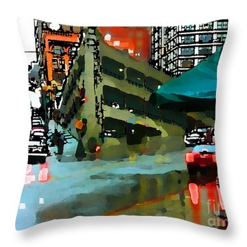 Seattle Parking Garage Throw Pillow
