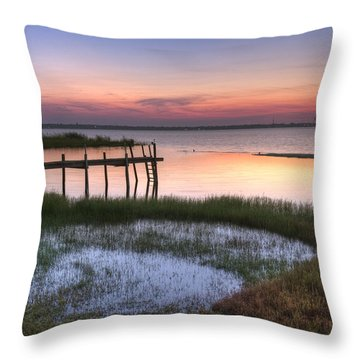 Sebring Sunrise Throw Pillow by Debra and Dave Vanderlaan