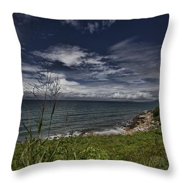 Secluded Cove Throw Pillow by Douglas Barnard