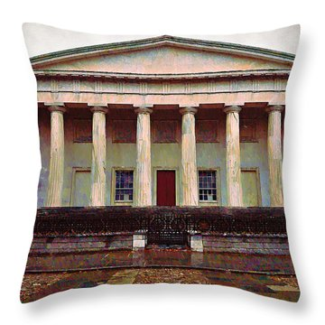 Second Bank Of The United States Philadelphia Pa Throw Pillow by Bill Cannon