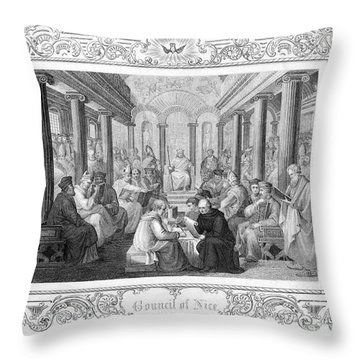 Second Council Of Nicaea Throw Pillow by Granger