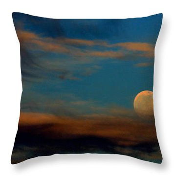 Throw Pillow featuring the photograph Second Full Moon 2012 by Ola Allen
