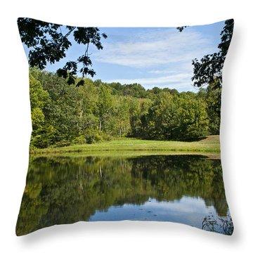 Secret Fishing Hole Throw Pillow