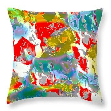 Throw Pillow featuring the digital art Secrets by Beth Saffer