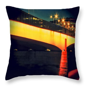 Secrets Of London Bridge Throw Pillow by Jasna Buncic