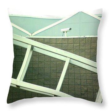 Throw Pillow featuring the photograph Security Camera On Government Building by Renee Trenholm